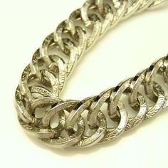 GERMANY #Vintage Chunky Statement Bracelet with Wide Links - Silvertone. Great piece for #spring or #summer! Shop our entire collection today: http://stores.ebay.com/My-Classic-Jewelry-Shop
