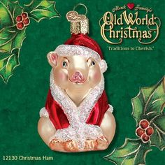 "Get your ""Christmas Ham"" at www.trendytree.com - very unique ornament created by Merck Family's Old World Christmas"