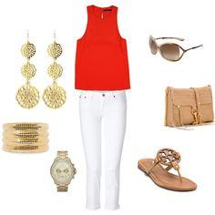 Summer date, created by amyauger on Polyvore