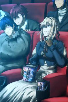 Anime Bebe, Anime Ai, Fanarts Anime, Anime Chibi, Kawaii Anime, Anime Guys, Anime Characters, Dandere Anime, Violet Evergarden Wallpaper