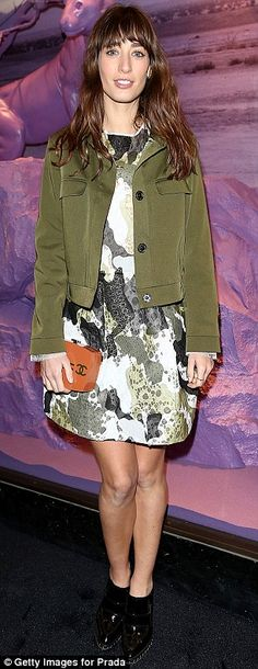 ba799416eabd Pixie Lott leads the glamour at Prada's London Fashion Week party. Leopard  Print JacketLondon ...