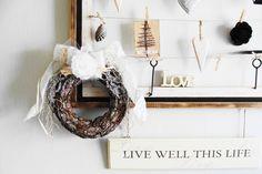 Rustic Christmas Decorations | Rustic Christmas Wreath, Door Wreath, Holiday Wreath, Door Decoration ...