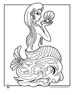 Mermaid Coloring Page 1... i love mermaids!!!