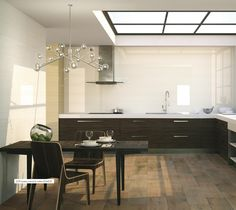 2210 series uses clear and neutral tones to create simple but elegant places. Give strength to your #room with dark #wood furniture like in the picture. #porcelaniteDos
