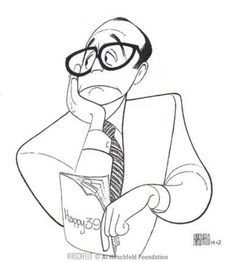 Artist Al Hirschfeld, Jack Benny Celebrity Caricatures, Celebrity Drawings, Jack Benny, Caricature Drawing, Ligne Claire, Black And White Portraits, Great Artists, Line Art, Painting & Drawing