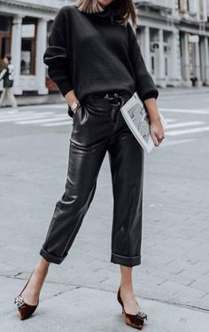 Black Leather Pants To Wear This Fall 2019