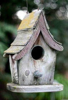 Vintage Painted Birdhouse