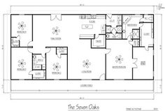 several metal building house floorplan ideas Metal Homes Floor Plans, Metal Building Homes Cost, Morton Building Homes, Metal Building House Plans, Metal Shop Building, Pole Barn House Plans, Pole Barn Homes, House Floor Plans, Building Ideas