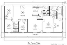 50x60 metal home plans!   Metal house plans, Metal homes ...