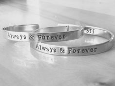 Always and Forever Cuff Bracelet Hand par FamilyHouseStampin