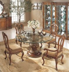 Florence Round Pedestal Dining Table | Orleans International | Home Gallery Stores