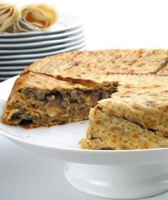 Passover Matzoh Pie with ground lamb sounds good, lol wonder if sam and the boys will eat this