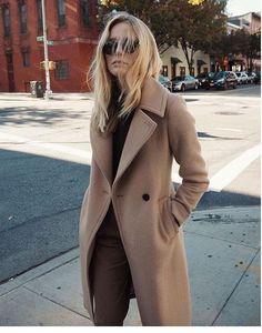camel coat + street style Emilija Taseska... - Total Street Style Looks And Fashion Outfit Ideas