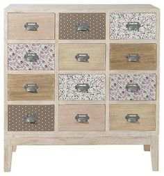 Wooden 12 drawer chest cabinet W Pimprenelle Decoupage Furniture, Upcycled Furniture, Cool Furniture, Painted Furniture, Furniture Design, Room Interior, Interior Design Living Room, Childrens Wardrobes, Shabby