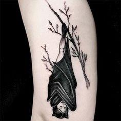 Half Bat Half Human Tattoo