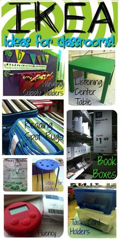 Inexpensive ideas for using IKEA products in the classroom. Time to go shopping!
