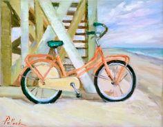 """Beach Bike"" 8x10 Available Quincy Ave. Art..... Seaside, FL"