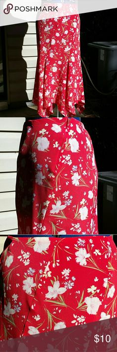 Women's Clothing /Skirt Custom Made by Seller..unlined skirt with rolled hem and serged..seams..nice for spring! Skirts Midi