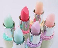 Pastel 'sticks. Not sure if I would actually try them though... Love Makeup, Beauty Makeup, Corte Y Color, Pretty Pastel, Lipstick Colors, Lip Colours, Lipstick Shades, Candy Colors, Pastel Colors