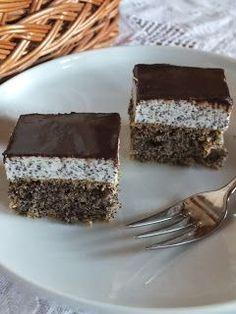 Ízőrző: Mákos krémes sütemény (majdnem lisztmentes) Torte Cake, Salty Snacks, Paleo Sweets, Hungarian Recipes, Diy Food, No Bake Cake, Sweet Recipes, Cookie Recipes, Chocolate