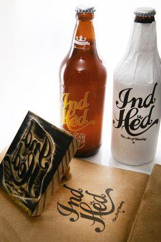 IndHED Premium Craft Beer. Designed by Industria, Denver, Colorado & Porto Alegre, Brazil.