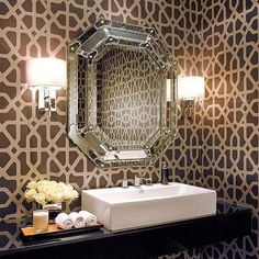 Powder Room with Floating Vanity