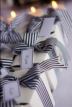 black and white wrapping...love it!