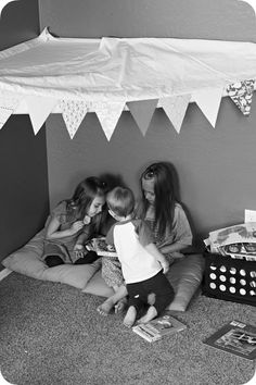 Reading Corners and Book Nooks: So excited to make one of these so sweet and cozy for the kids! :)
