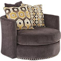 picture of Sofia Vergara Laguna Beach Gray Swivel Chair  from Chairs Furniture