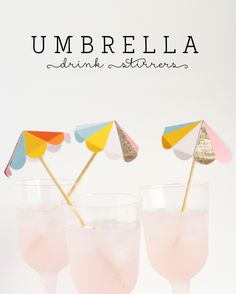 Free Printable Umbrella Drink Stirrers