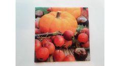 Sütőtökös, vadalmás, gesztenyés őszi szalvéta Pumpkin, Vegetables, Pumpkins, Vegetable Recipes, Squash, Veggies
