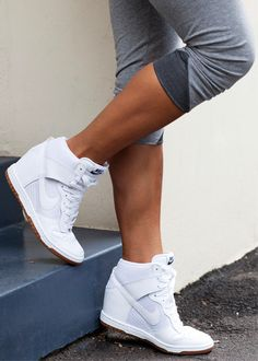 Not sure if I would attempt these shoes or not. I'm a heels girl but idk about mixed with a tennis shoe!