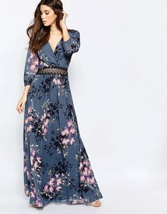 Little+Mistress+Floral+Print+and+Lace+Maxi+Dress