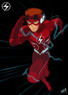 Wally West Young Justice, Nightwing Young Justice, Character Costumes, Character Art, Wally West Rebirth, Spitfire Young Justice, Justice Kids, Flash Tv Series, Flash Wallpaper