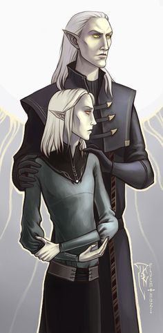 "A Thalmor agent and his son. Typical ""superior"" Altmer. DeviantArt"