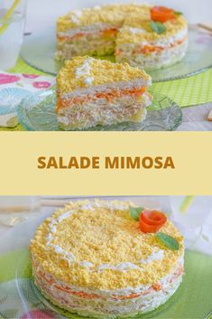 Salade Mimosa – Recettes FacilesYou can find Recette noel and more on our website. Chimichurri, Mimosa Salad, Salty Foods, Brunch Party, Batch Cooking, Fish And Chips, Pulled Pork, Food To Make, Buffet