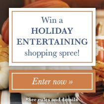 Win the ultimate holiday entertaining shopping spree! Prize package includes: $1,000 from Domino to trick out your space, $750 to shop gourmet ingredients and $500 to revamp your holiday wardrobe. Enter now: tastingtable.com/fallfete2014