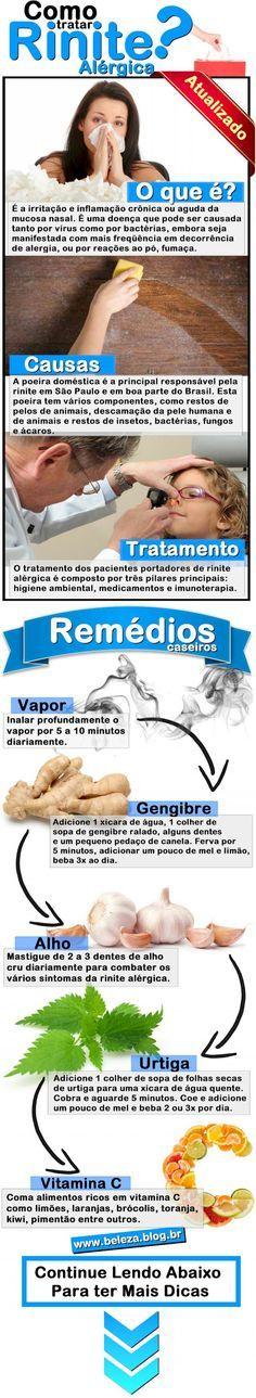 27 Remédios Caseiros Tratamento Rinite Alérgica