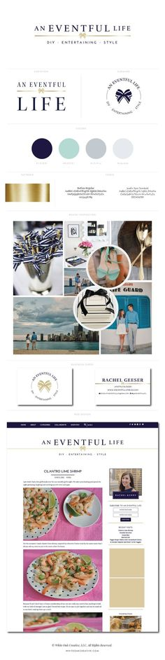 WordPress blog design for decor and style blog, An Eventful Life - featuring inspiration branding, brand strategy, logo design, web design, blog design