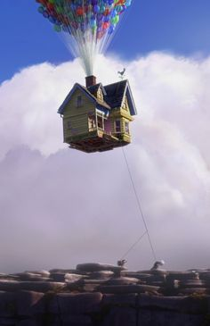 Look at this photo. What do you see? Do you know the name of the movie? (Up) How do you know? If you were inside this house how would you feel? Follow with a small group discussion. Ask the students to do a whole group shout out, or short written response. *This written response may be done as a collective piece where students either share the pen, or dictate their sentence. Read their story aloud. Ask them to read it!