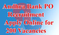 Andhra Bank 2015 Recruitment for PO