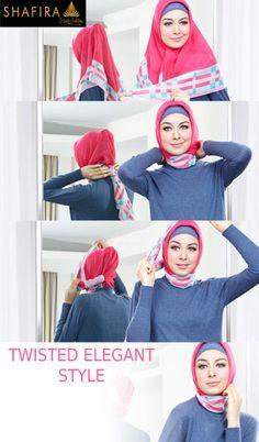 The First Leading Muslim Fashion Muslim Fashion, Hijab Fashion, How To Wear Hijab, Hijab Ideas, Hijab Tutorial, Fashion Brand, Veil, Scarves, Elegant