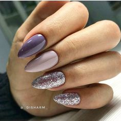 Best Gel Nails You Can Copy. If you attending below, you will acquisition some of the actual best gel nails that we could find. Gel nails are Fancy Nails, Love Nails, Gorgeous Nails, Pretty Nails, Nagel Gel, Glitter Nail Art, Lilac Nails With Glitter, Leopard Nail Art, Purple Sparkle