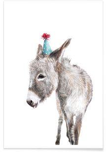 Esel - Janine Sommer - Affiche premium