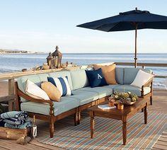 Personalized Indoor/Outdoor Pillows - Outdoor Rugs On Deck Outdoor Couch, Outdoor Rugs, Outdoor Spaces, Indoor Outdoor, Outdoor Living, Outdoor Furniture, Outdoor Decor, Outdoor Seating, Corner Furniture