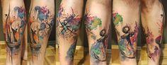 MareTattoo Serbia World Traveler tattoo  Ink map anchor