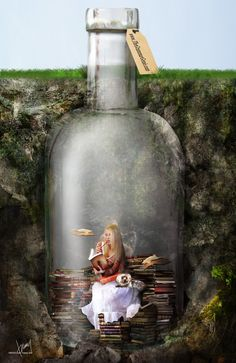 The Grammar Genie by Cold-Tommy-Gin on deviantART Fantasy World, Fantasy Art, Reading Art, Shadow Art, Book Images, Surreal Art, Photo Manipulation, Love Book, Great Books