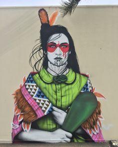 """""""Taaniko"""" – New Mural by Street Artist Fin Dac in Mount Maunganui // New Zealand Murals Street Art, Street Art News, Street Art Graffiti, Street Artists, Art Maori, Zealand Tattoo, New Zealand Art, Nz Art, Amazing Street Art"""