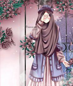 A scarf is the most important bit within the clothing of women using hijab. Hijabi Girl, Girl Hijab, Muslim Girls, Muslim Women, Hijab Drawing, Islamic Cartoon, Cute Couple Cartoon, Image Hd, Hijab Cartoon