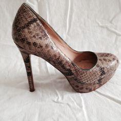 ZARA Reptile Platform Heels — Refashionista Boutique